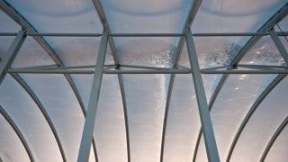 ETFE foil roof over shopping centre