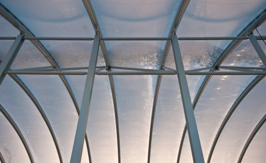 ETFE foil roof over shopping centre