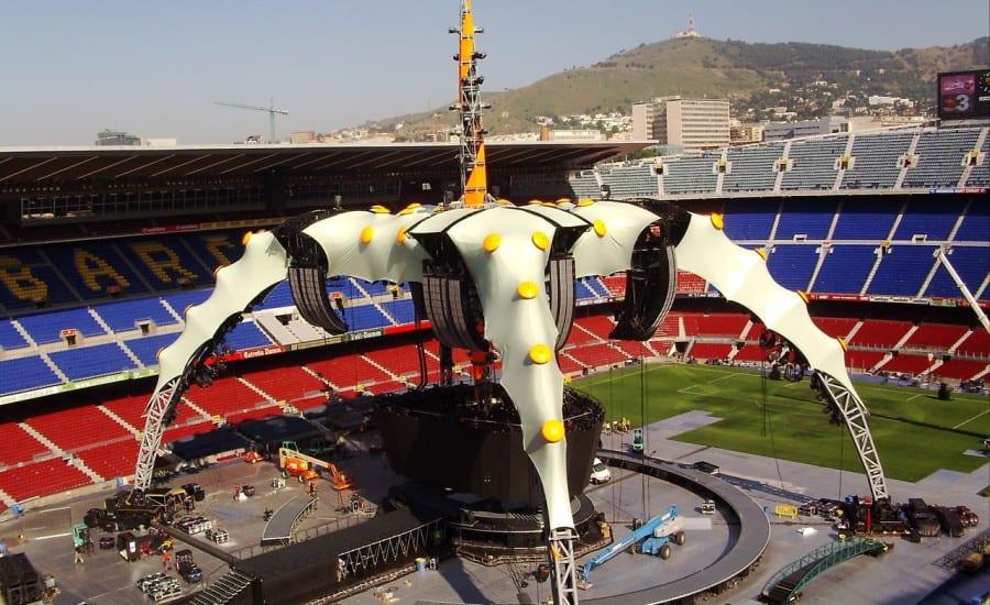 U2 tensile fabric stage design