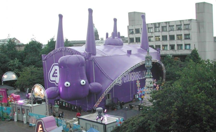 Unusual fabric theatre structure