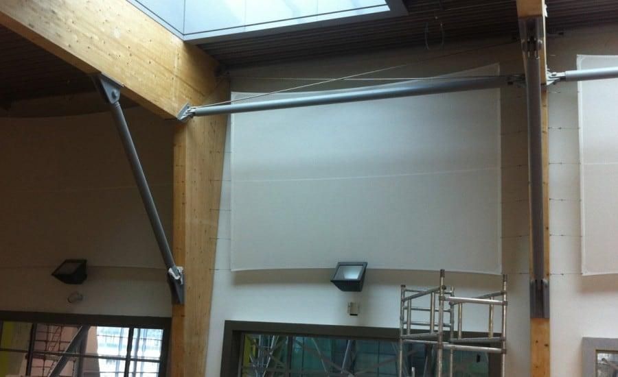 Interior fabric screen