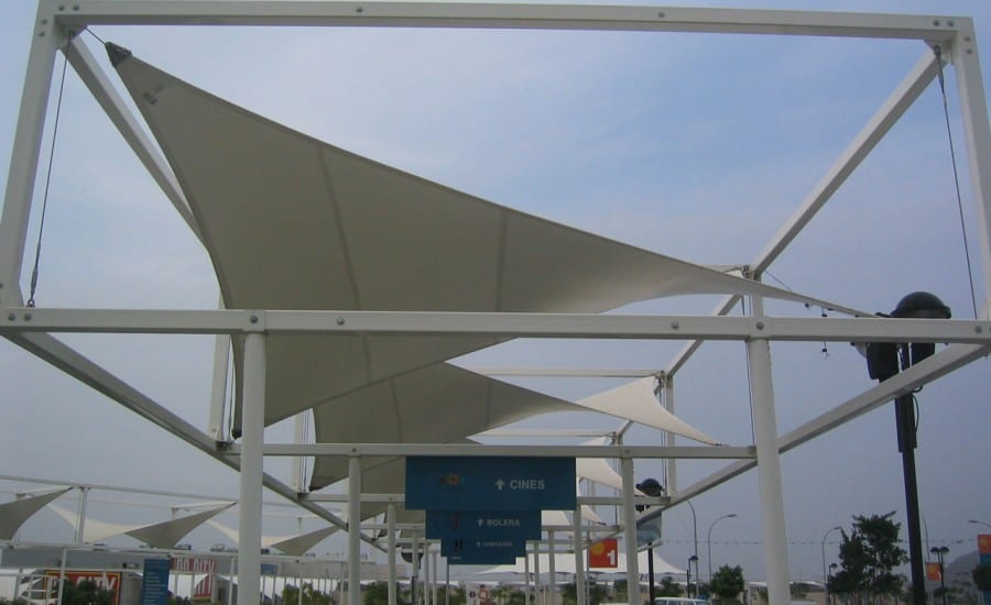 Small fabric canopies to provide shade