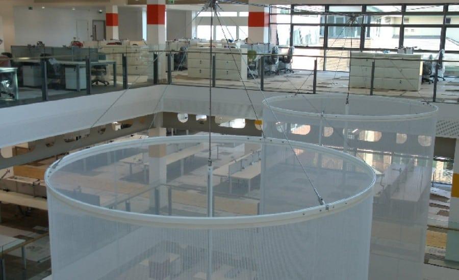 Fabric installation for an atrium