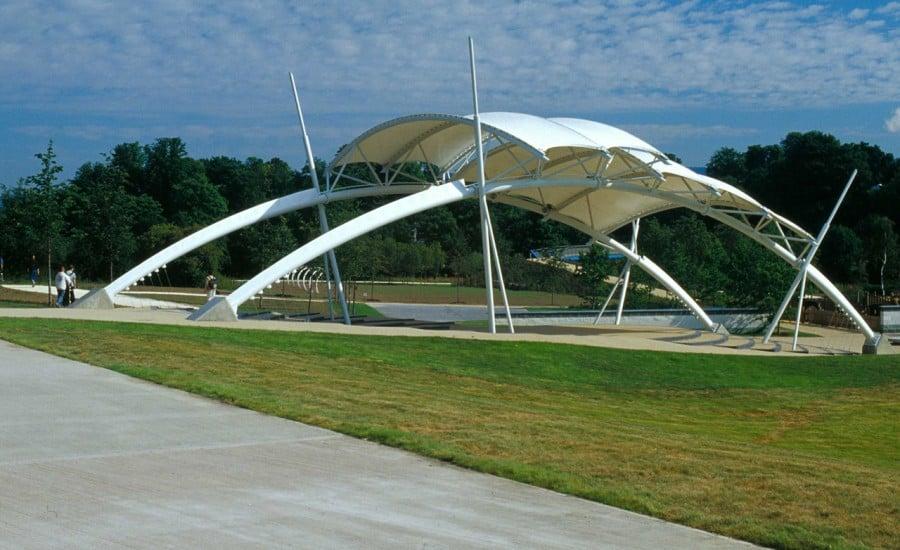 Five barrel vaulted canopies
