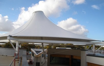 Large PVC cone shaped canopy