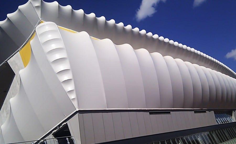 PVC structure for Athletics diamond league