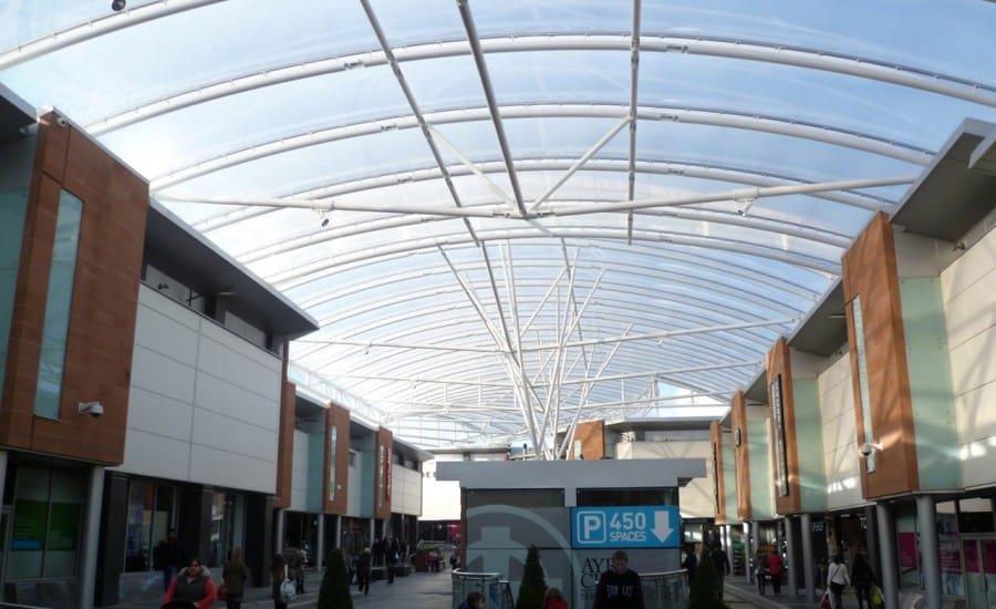 ETFE canopy provides dry space