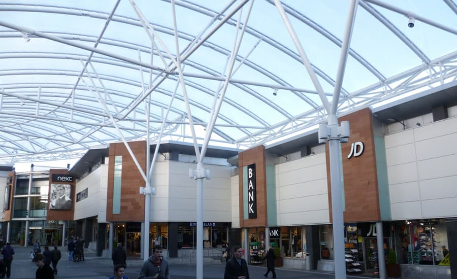 ETFE cushions link buildings