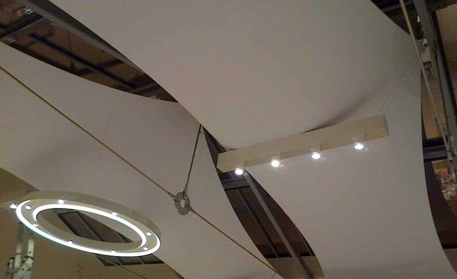 Fabric ceiling feature