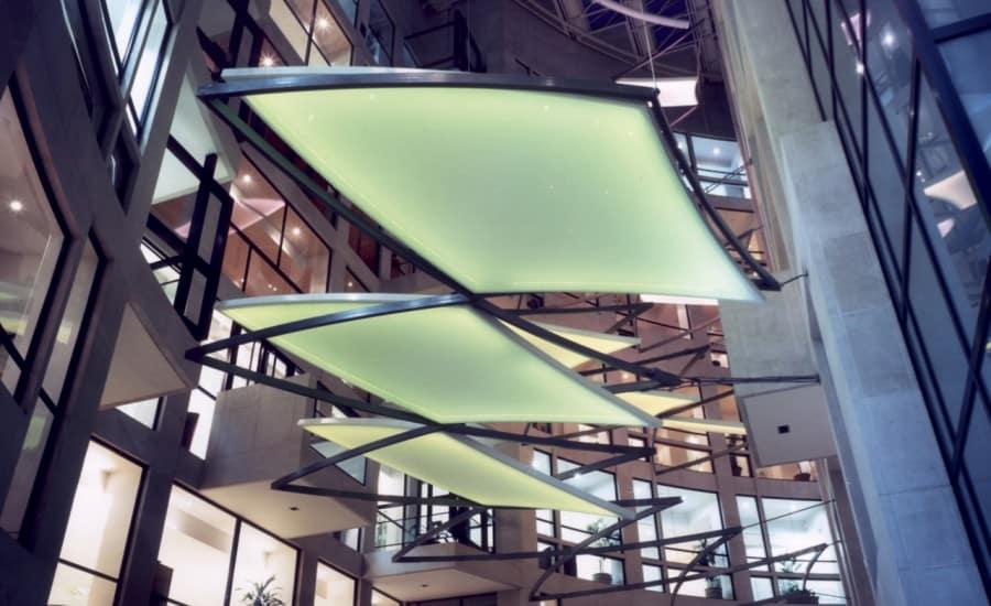 LED lit internal sails