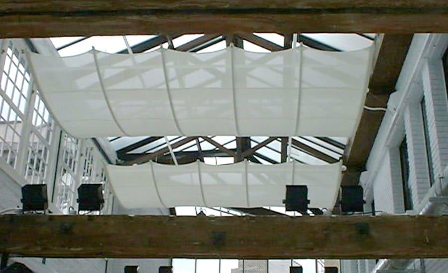 Interior translucent fabric screens