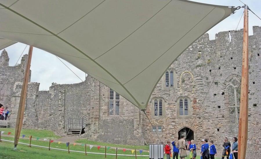 ... Temporary festival canopy ... & Chepstow Castle - Architen Landrell