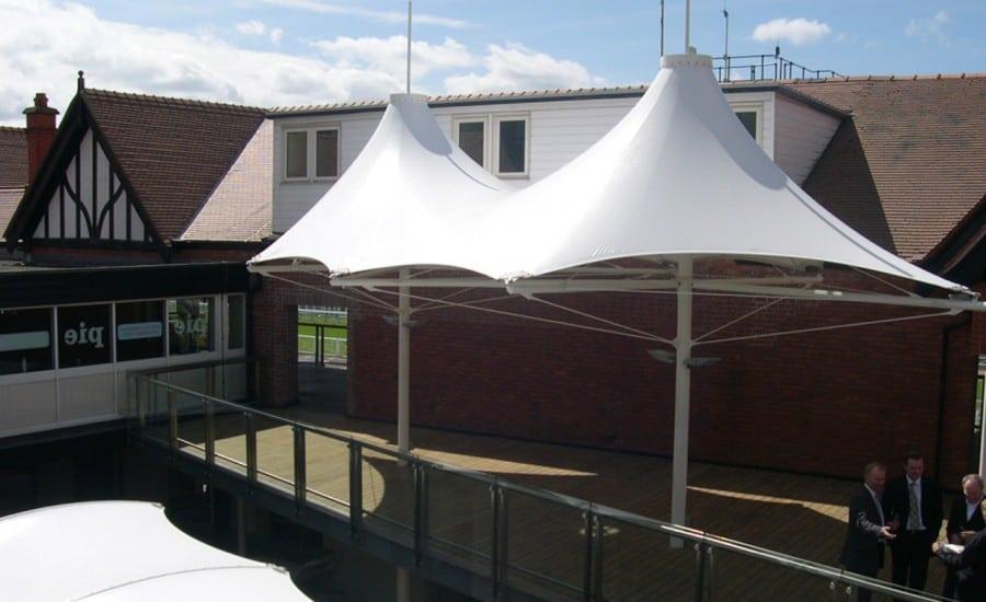 Spectators area canopies