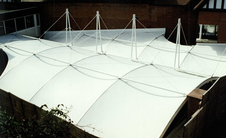 Entrance walkway fabric structures