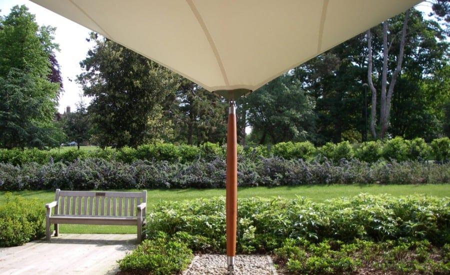 Inverted umbrella structure