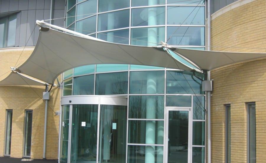 PVC angular tensile canopy