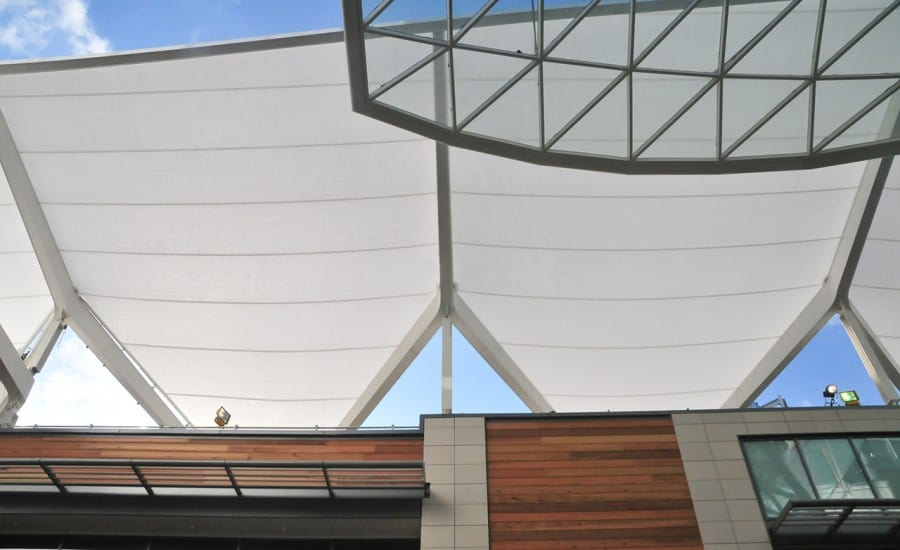 Shopping centre walkway canopy