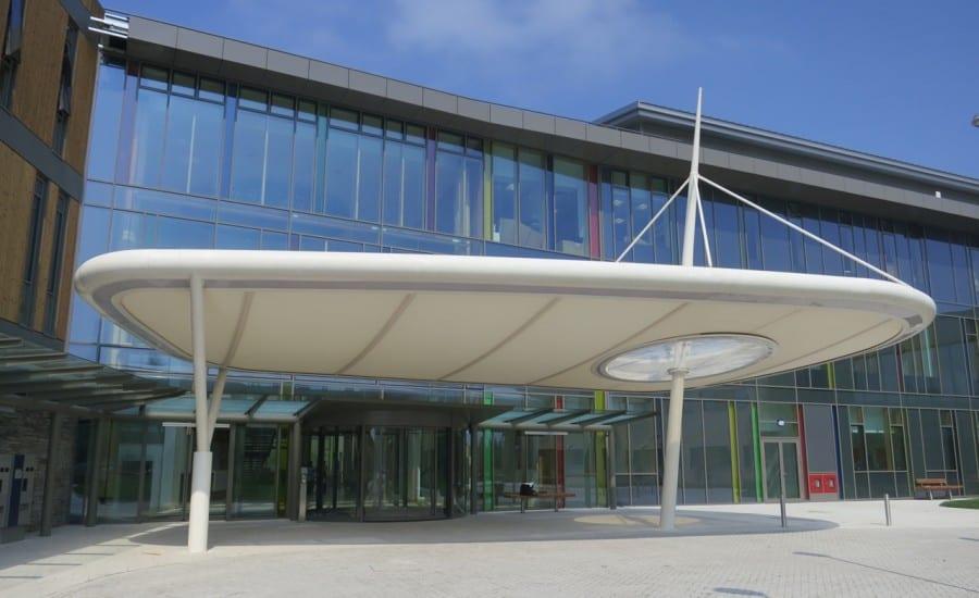 PTFE coated glass cloth solar glare canopy