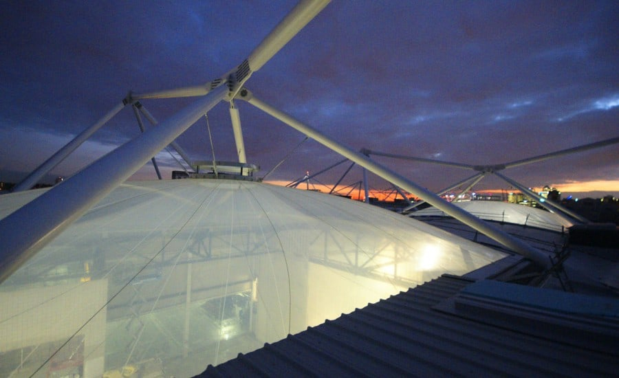 ETFE cushion at night
