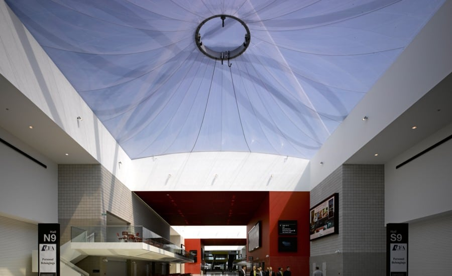 ETFE cushion roof over conference centre