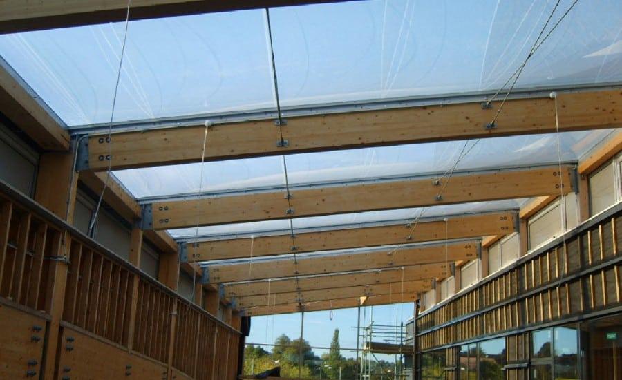 sunlit ETFE roof