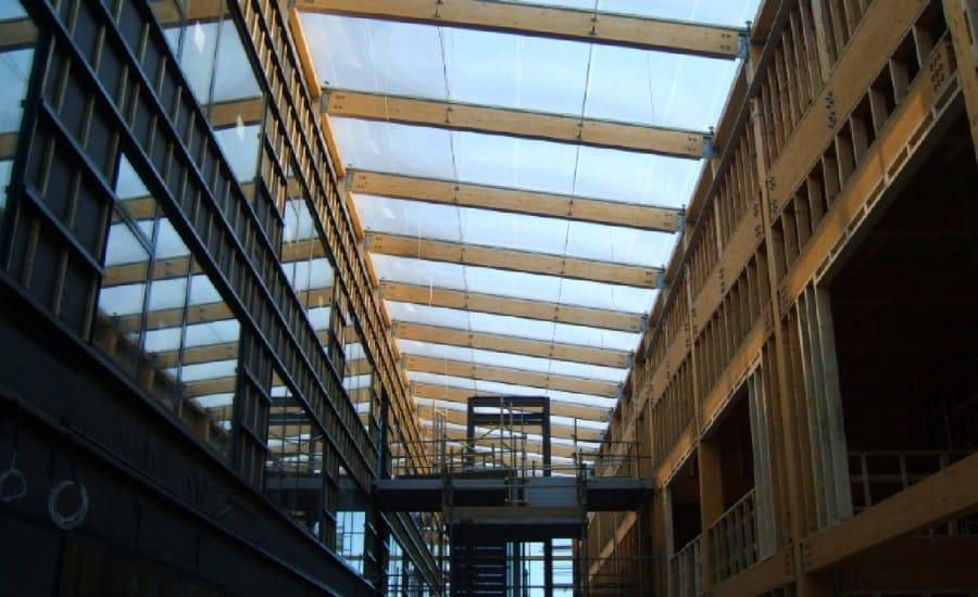 Lightweight ETFE roof