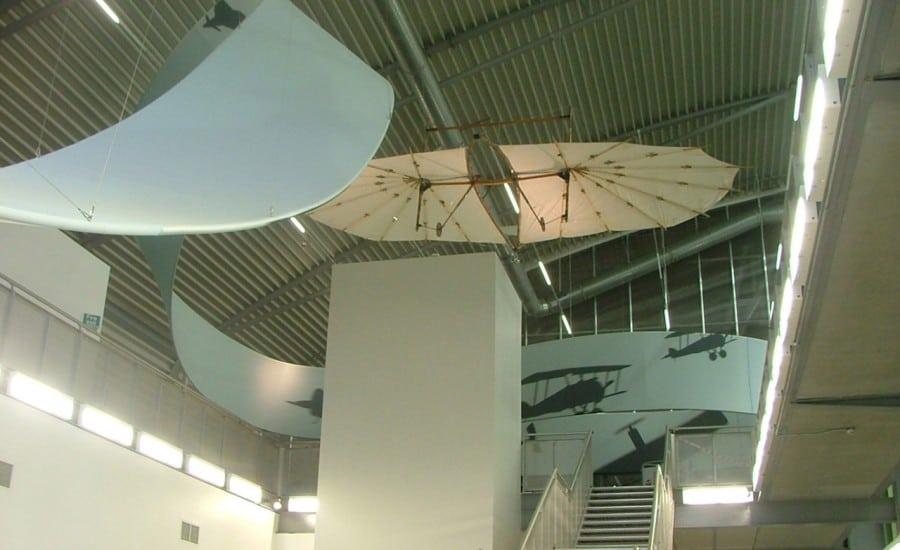 Fabric art installation in museum