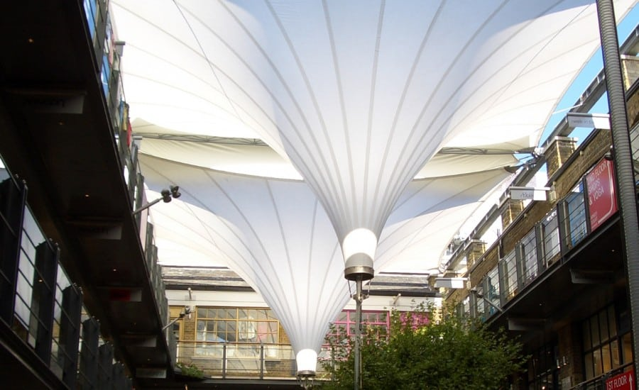 tensile fabric courtyard canopies