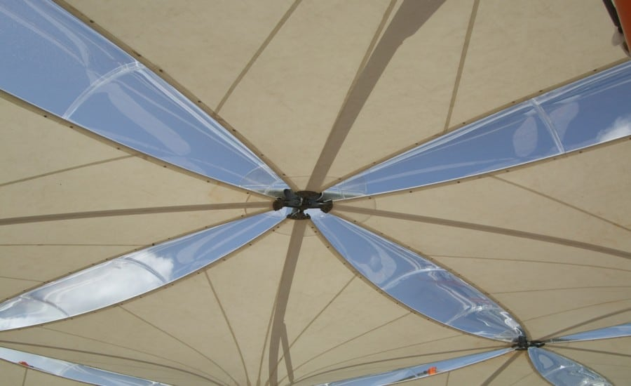PTFE fabric structure for food court