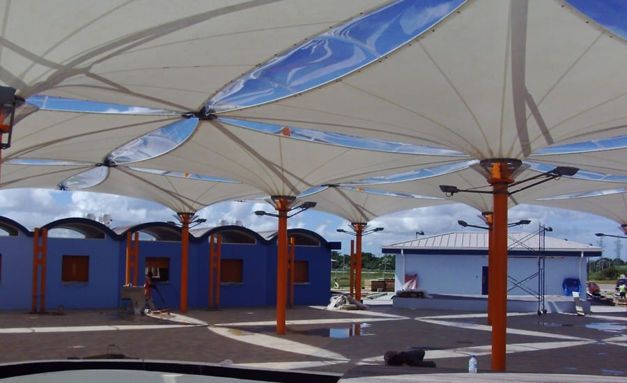 Airport canopies