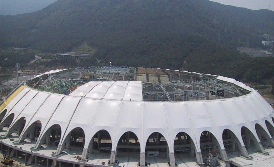 PTFE stadium structure