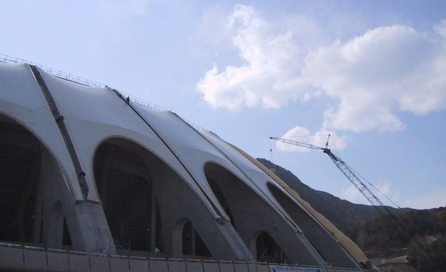Tensile structure sports stadium