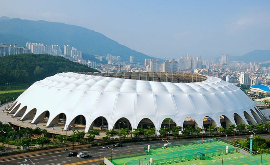 pusan stadium fabric clad football arena