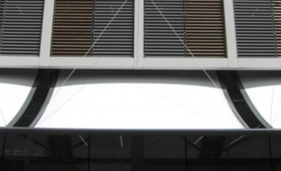 Supermarket entrance canopy