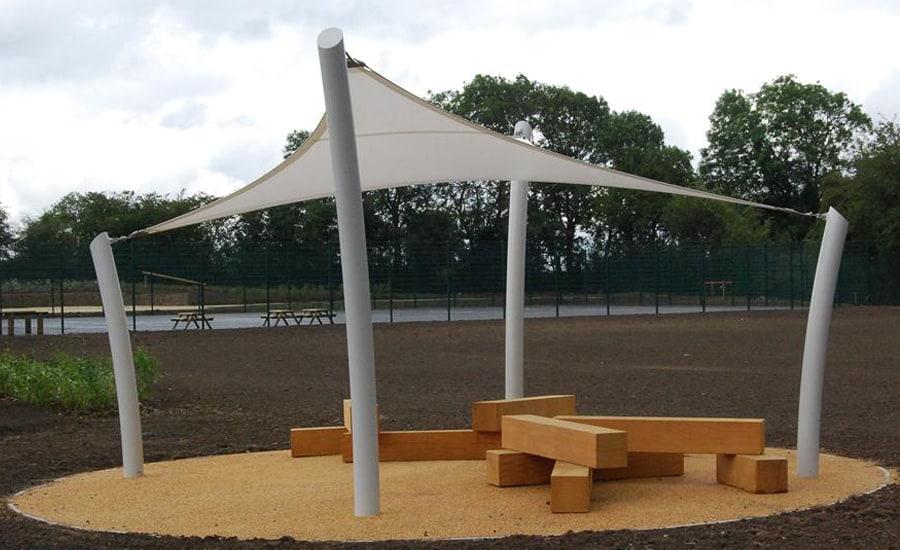 Children play area sun canopies
