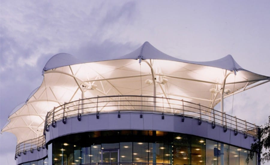 Stunning tensile fabric roof