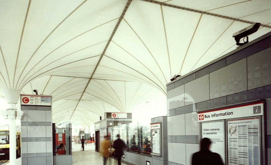 Unusual and distinctive PTFE canopies