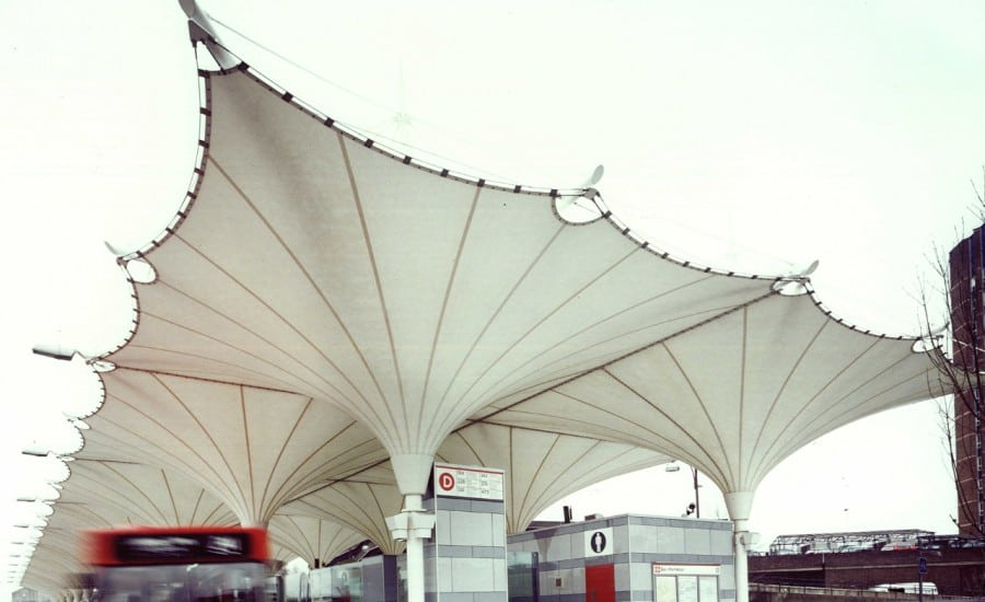 Canopies for a bus station