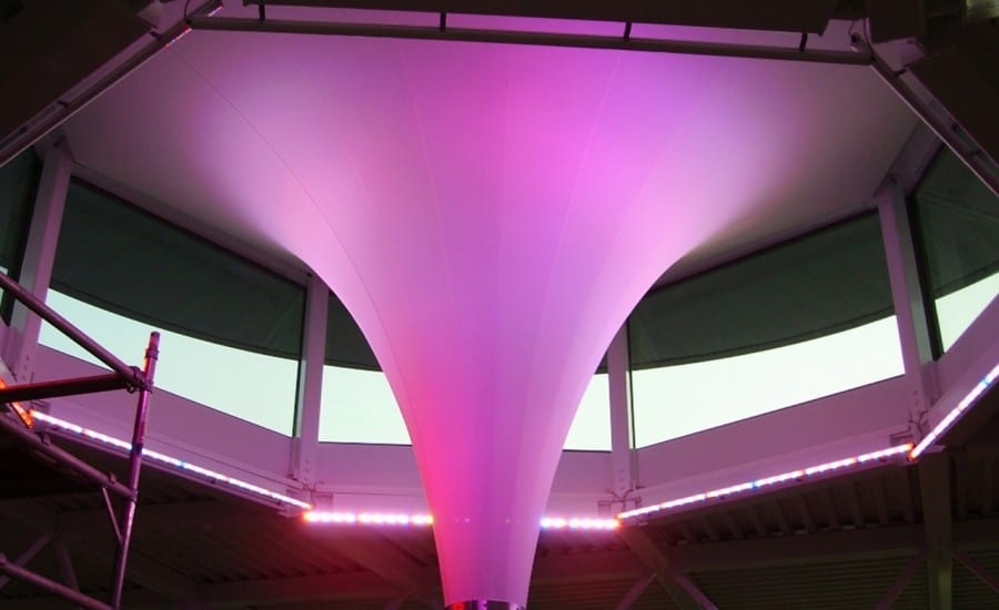 illuminated conic fabric structure