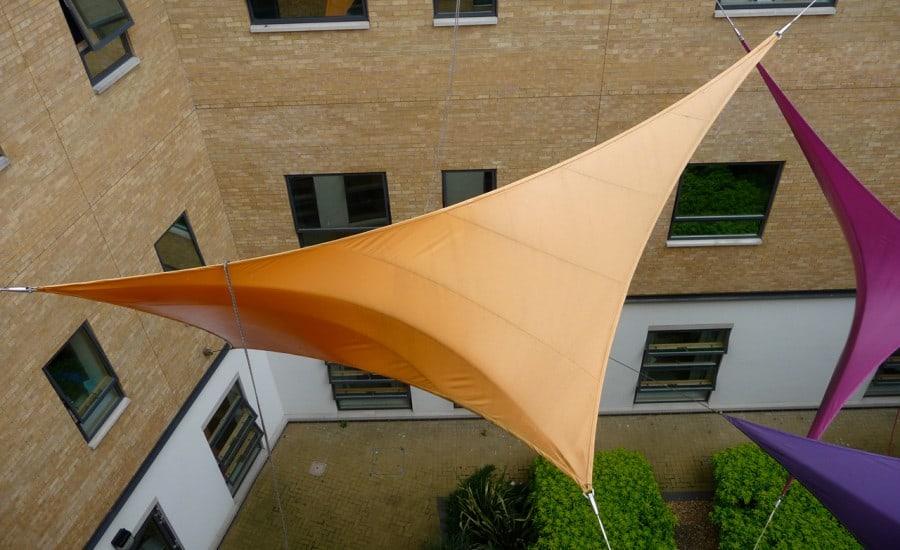 Courtyard PVC membrane panels