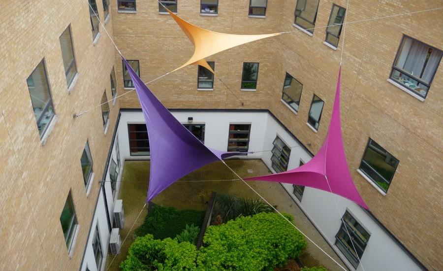 Coloured fun sculptural installation