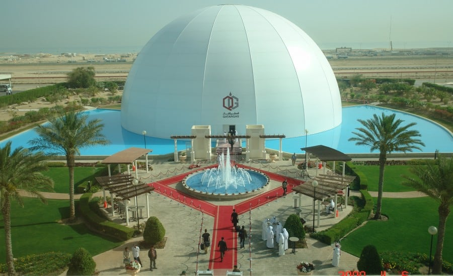 Engineered inflatable tensile fabric structure