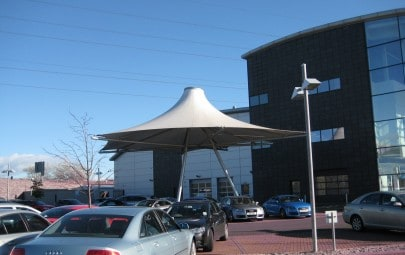Conical fabric canopy