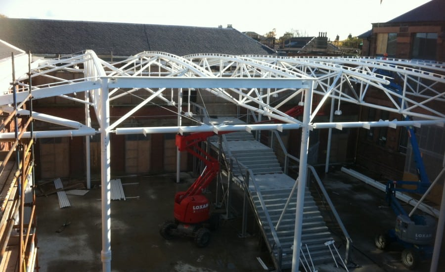 Support Structure steel framework for ETFE roof