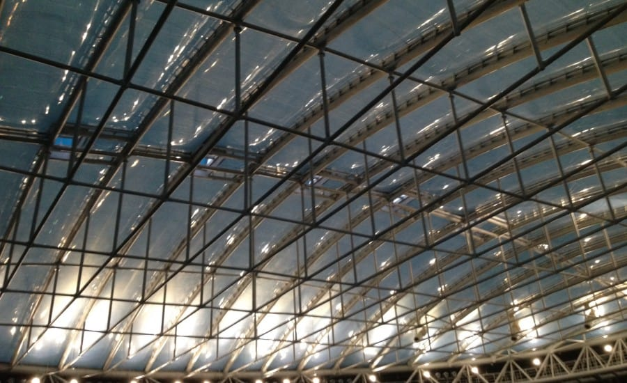 Clear roof over swimming venue