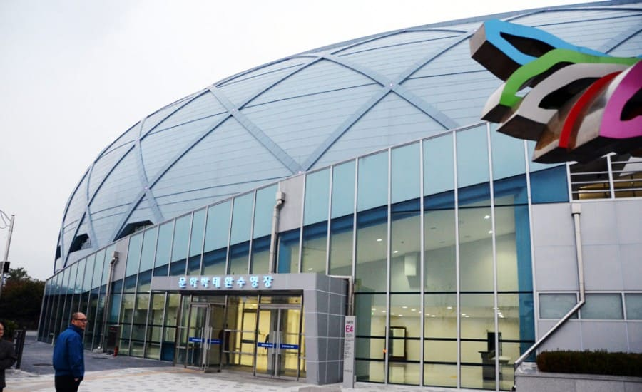 ETFE entrance for sports venue