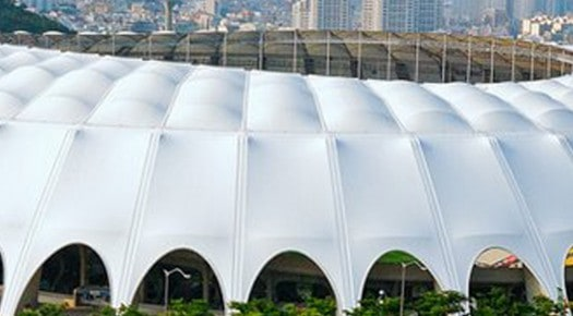 Fabric clad football stadium