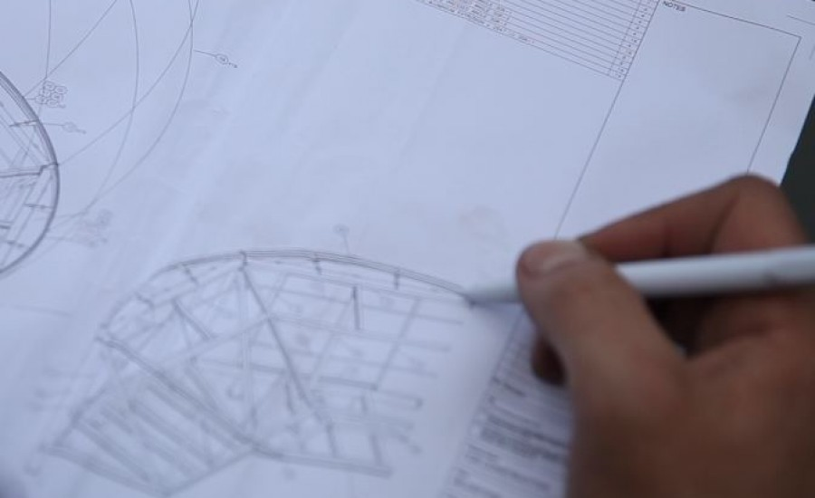 Sketching a fabric structure