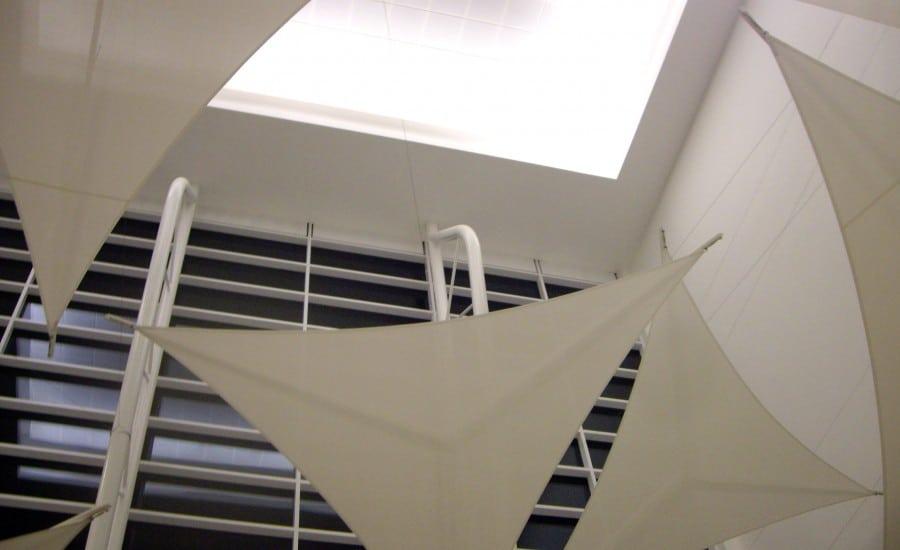 Artistic fabric sails