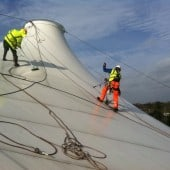 Cleaning Tensile Fabric Structures
